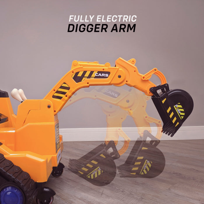 kids 12v electric battery operated digger with parental remote control fully electric controlled digger electric arm details 6v