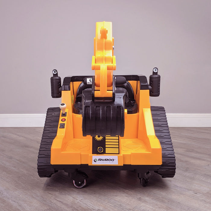 kids 12v electric battery operated digger with parental remote control fully electric controlled digger front direct 6v