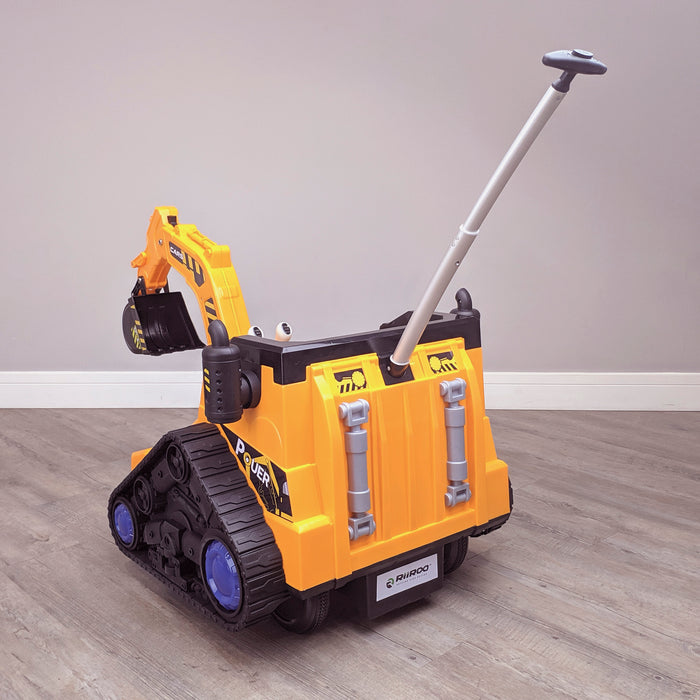 kids 12v electric battery operated digger with parental remote control fully electric controlled digger parental handle 6v