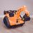 kids 12v electric battery operated digger with parental remote control fully electric controlled digger perspective shot 6v