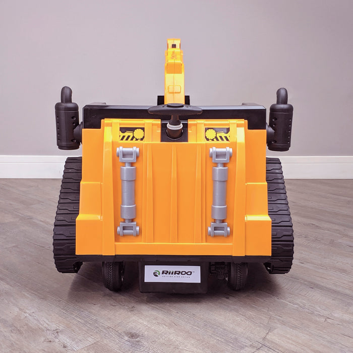 kids 12v electric battery operated digger with parental remote control fully electric controlled digger rear shot 6v