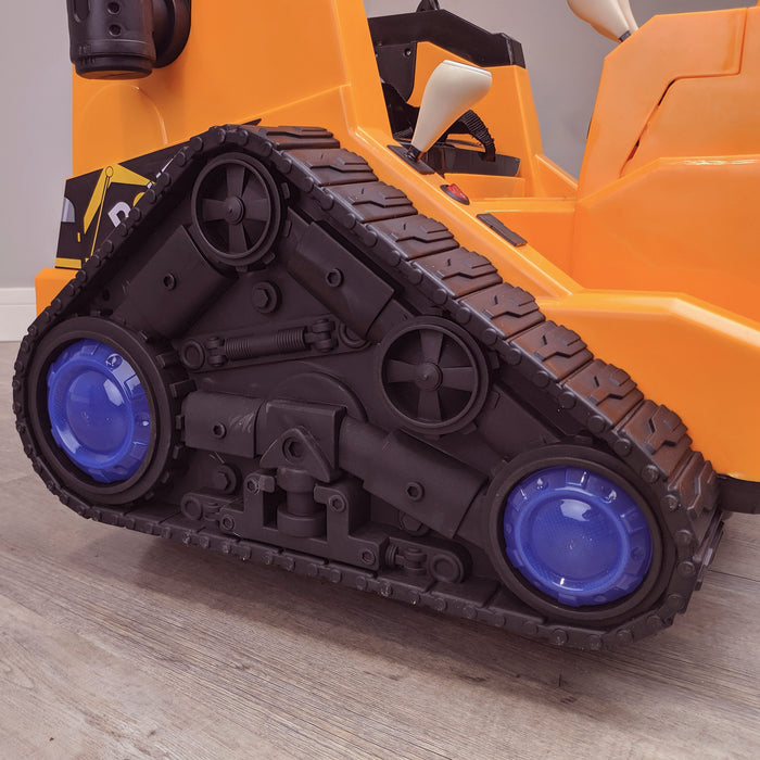 kids 12v electric battery operated digger with parental remote control fully electric controlled digger tracks left details 6v