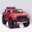 kids 12v electric ford ranger raptor f150 battery operated ride on car with parental remote control front angle doors closed red wildtrak 2wd red