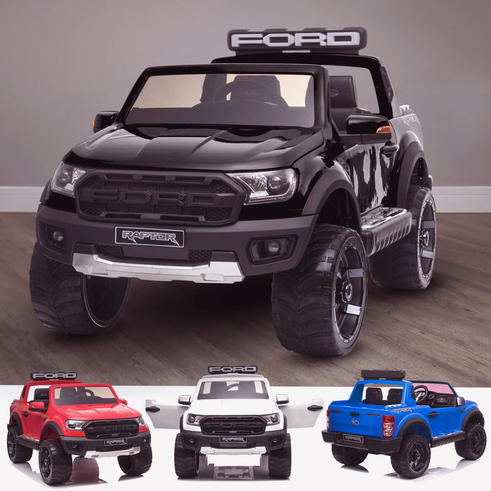 kids 12v electric ford ranger raptor f150 battery operated ride on car with parental remote control main black wildtrak 2wd white