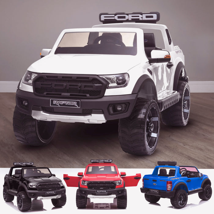 kids 12v electric ford ranger raptor f150 battery operated ride on car with parental remote control main white White wildtrak 2wd