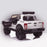 kids 12v electric ford ranger raptor f150 battery operated ride on car with parental remote control rear angle doors open white wildtrak 2wd white