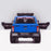 kids 12v electric ford ranger raptor f150 battery operated ride on car with parental remote control rear doors open blue wildtrak 2wd black