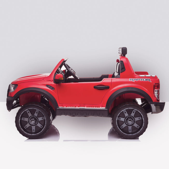 kids 12v electric ford ranger raptor f150 battery operated ride on car with parental remote control side red wildtrak 2wd black
