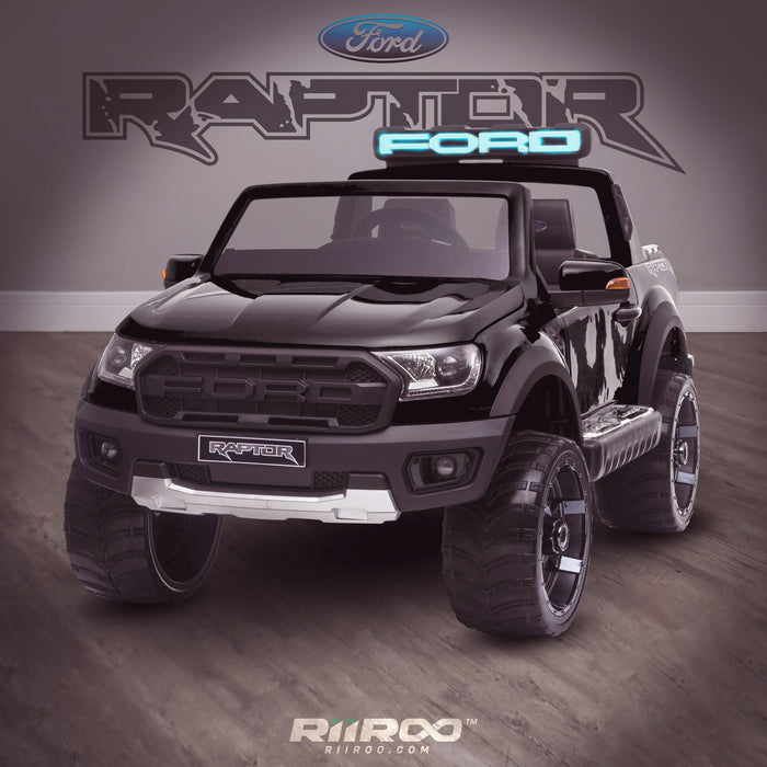 kids 12v electric ford ranger raptor f150 battery operated ride on car with parental remote control single black wildtrak 2wd