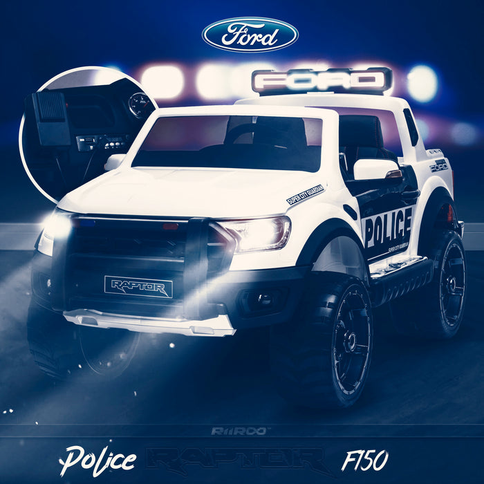 kids 12v electric ford ranger raptor f150 police truck car jeep pick up battery operated ride on car with parental remote control switch 3 wildtrak edition