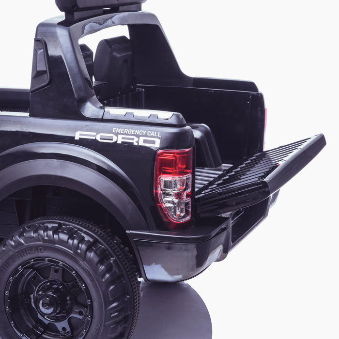 kids 12v electric ford ranger raptor f150 police truck car jeep pick up battery operated ride on car with parental remote control working boot wildtrak edition