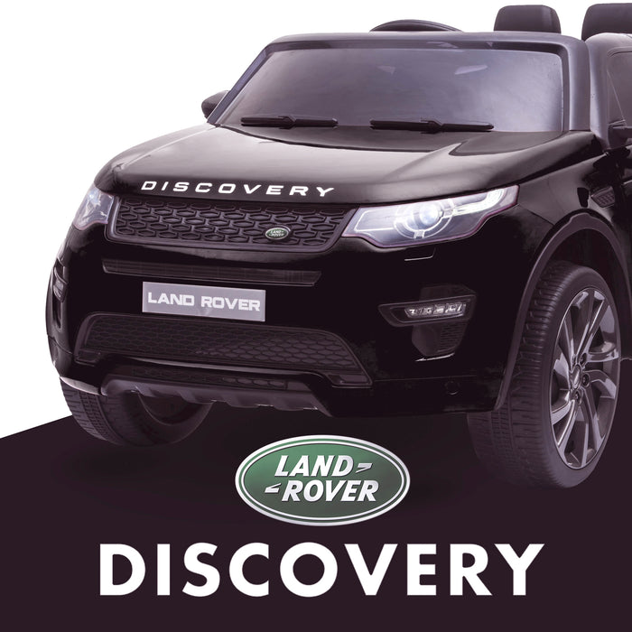 kids 12v electric land rover discovery 2019 battery operated kids ride on car jeep with parental remote control black hse sport