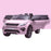 kids 12v electric land rover discovery 2019 battery operated kids ride on car jeep with parental remote control pink doors open hse sport in