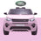 kids 12v electric land rover discovery 2019 battery operated kids ride on car jeep with parental remote control pink front hse sport in
