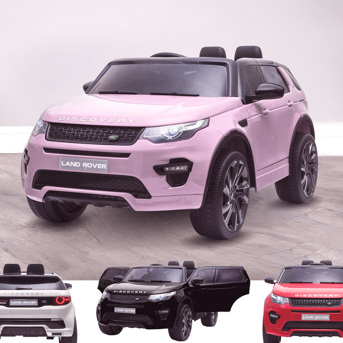kids 12v electric land rover discovery 2019 battery operated kids ride on car jeep with parental remote control pink opt Pink hse sport
