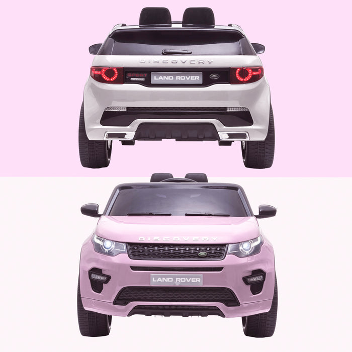 kids 12v electric land rover discovery 2019 battery operated kids ride on car jeep with parental remote control pink white hse sport