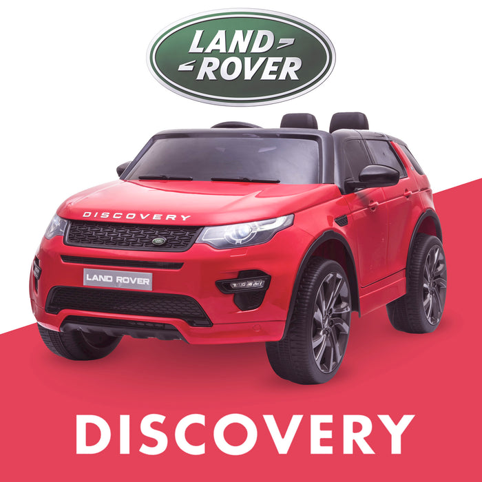 kids 12v electric land rover discovery 2019 battery operated kids ride on car jeep with parental remote control red hse sport