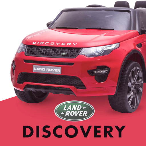 kids 12v electric land rover discovery 2019 battery operated kids ride on car jeep with parental remote control red hse sport in painted