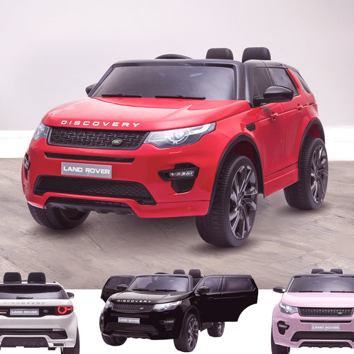 kids 12v electric land rover discovery 2019 battery operated kids ride on car jeep with parental remote control red opt Red hse sport