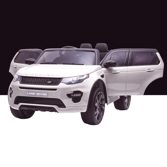kids 12v electric land rover discovery 2019 battery operated kids ride on car jeep with parental remote control white doors open hse sport