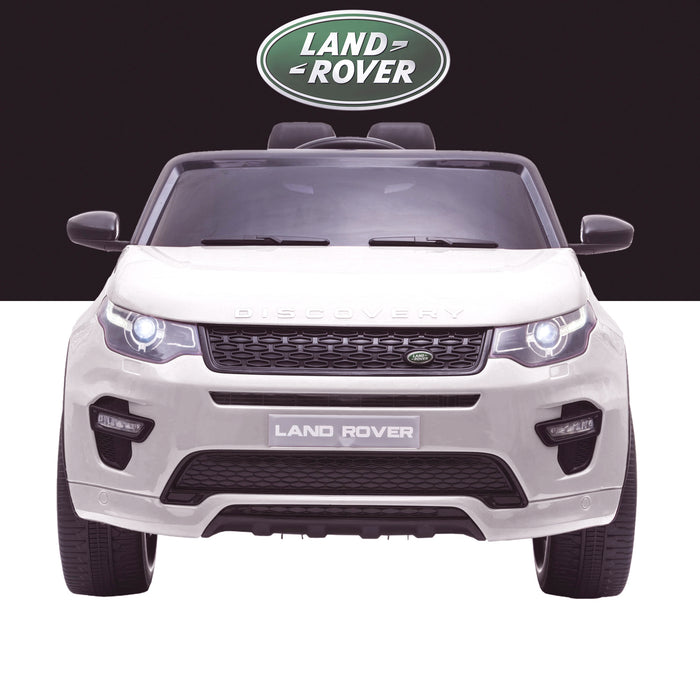 kids 12v electric land rover discovery 2019 battery operated kids ride on car jeep with parental remote control white front hse sport
