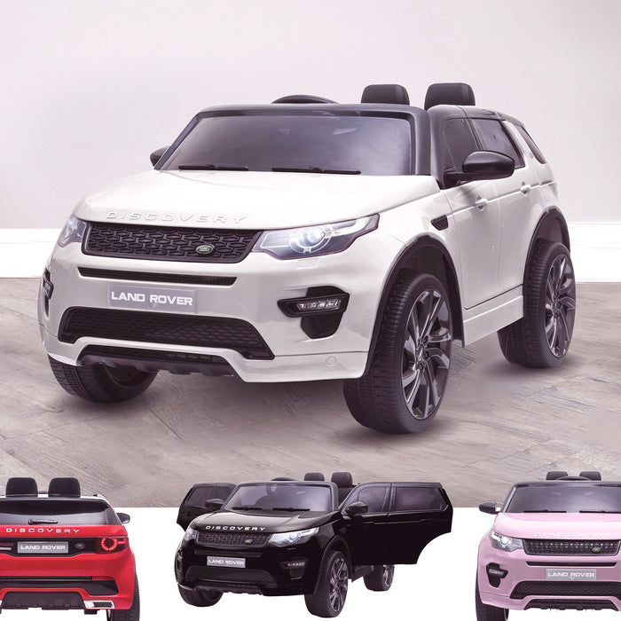 kids 12v electric land rover discovery 2019 battery operated kids ride on car jeep with parental remote control white opt White hse sport