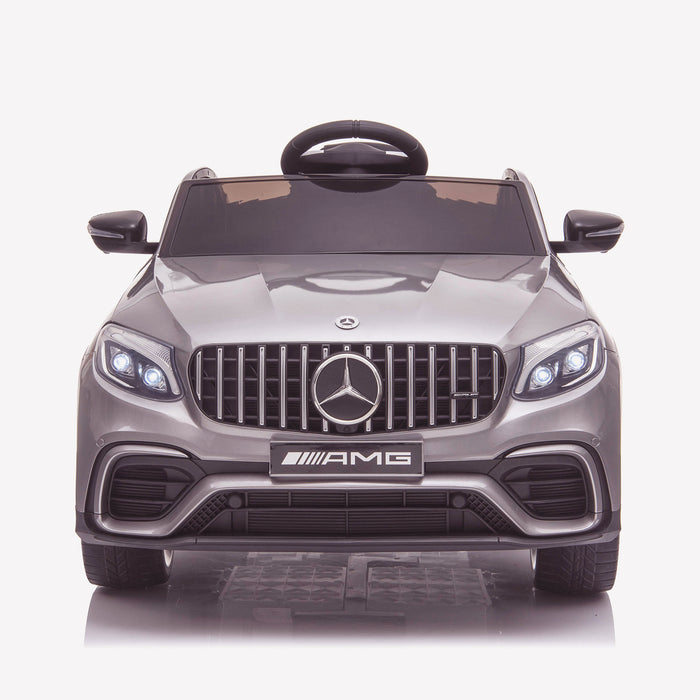 kids 12v electric mercedes glc 63s coupe battery car jeep pick up battery operated ride on car with parental remote control front direct gray benz amg licensed 2wd green
