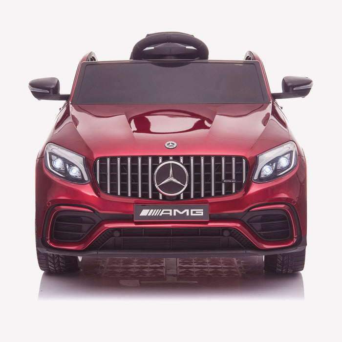 kids 12v electric mercedes glc 63s coupe battery car jeep pick up battery operated ride on car with parental remote control front direct red benz amg licensed 2wd painted red