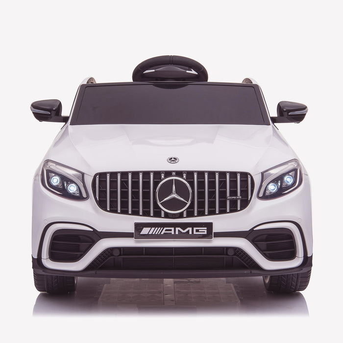kids 12v electric mercedes glc 63s coupe battery car jeep pick up battery operated ride on car with parental remote control front direct white benz amg licensed 2wd blue