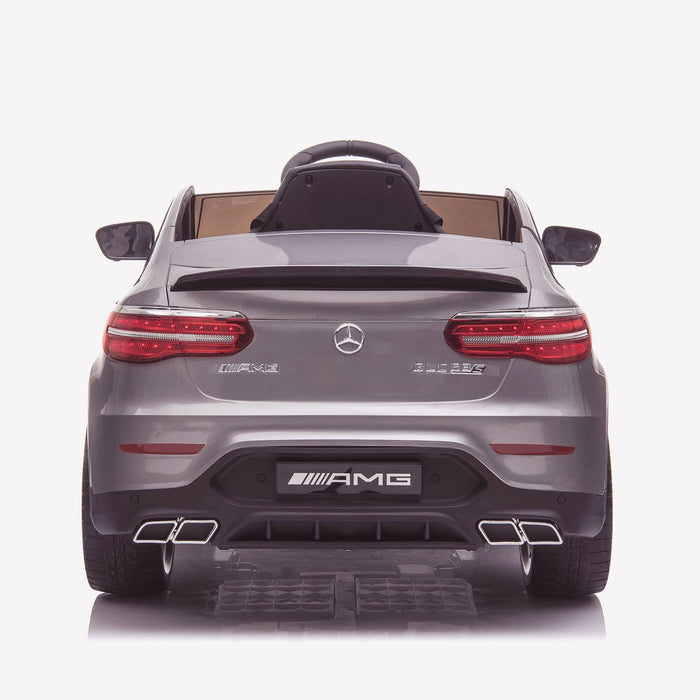 kids 12v electric mercedes glc 63s coupe battery car jeep pick up battery operated ride on car with parental remote control rear direct gray benz amg licensed 2wd painted red