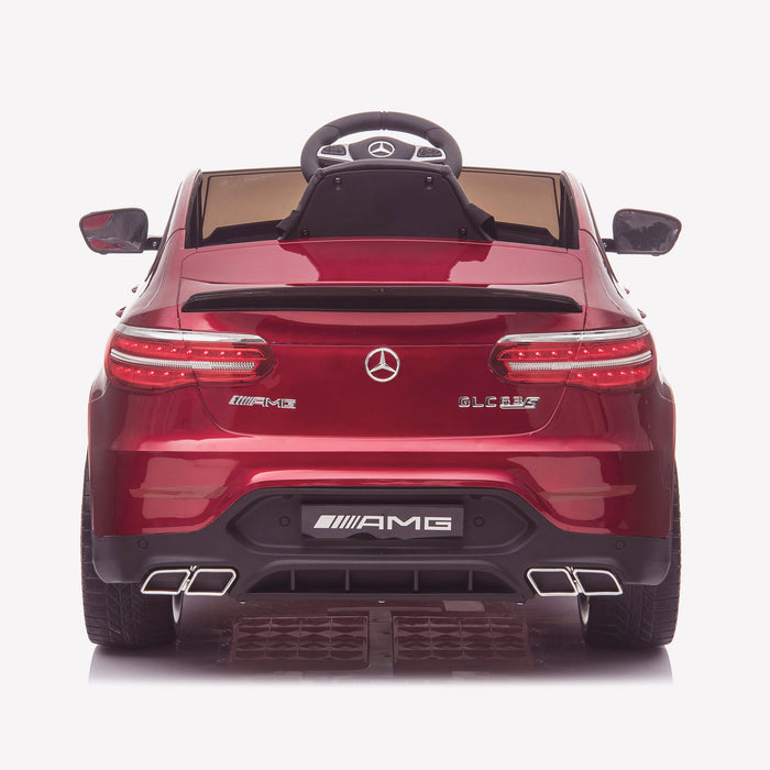 kids 12v electric mercedes glc 63s coupe battery car jeep pick up battery operated ride on car with parental remote control rear direct red benz amg licensed 2wd painted grey