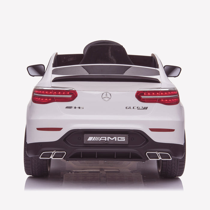 kids 12v electric mercedes glc 63s coupe battery car jeep pick up battery operated ride on car with parental remote control rear direct white benz amg licensed 2wd
