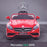 kids 12v electric mercedes s63 amg car licesend battery operated ride on car with parental remote control main front red 2wd red