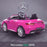 kids 12v electric mercedes s63 amg car licesend battery operated ride on car with parental remote control main rear angle pink 2wd painted grey