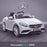 kids 12v electric mercedes s63 amg car licesend battery operated ride on car with parental remote control main white front angle 2wd