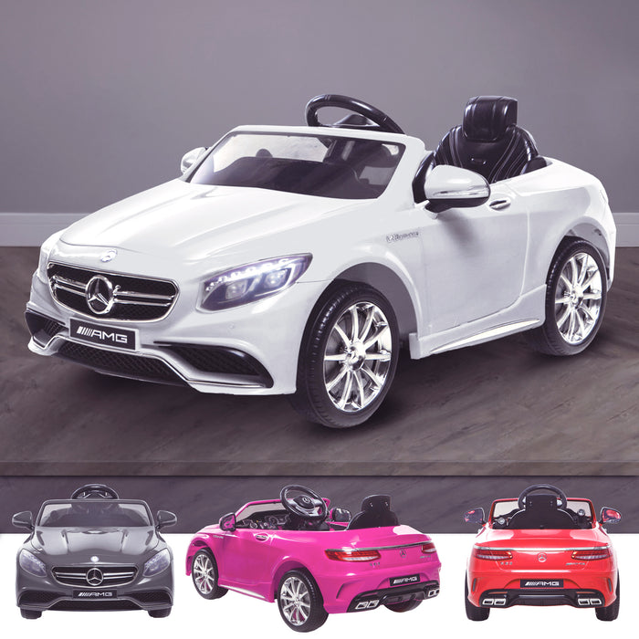 kids 12v electric mercedes s63 amg car licesend battery operated ride on car with parental remote control main white 2wd white