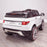 kids 12v range rover evoque style electric battery ride on car with parental remote control working boot functioning rear white perspective view 2wd