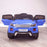kids 12v range rover evoque style electric battery ride on car with parental remote control working boot functioning blue front 2wd
