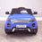 kids 12v range rover evoque style electric battery ride on car with parental remote control working boot functioning direct front view 2wd blue
