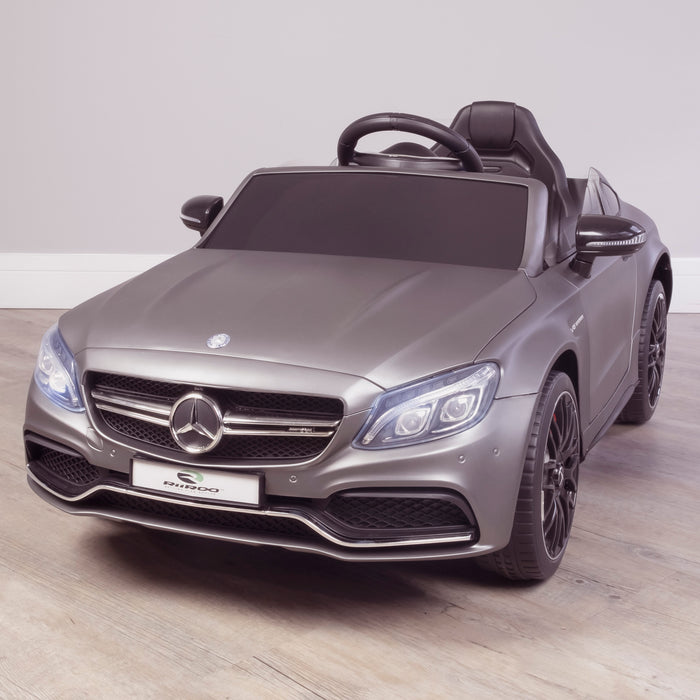 kids 12v mercedes benz c63s amg electric ride on car 2819 c63 in painted grey