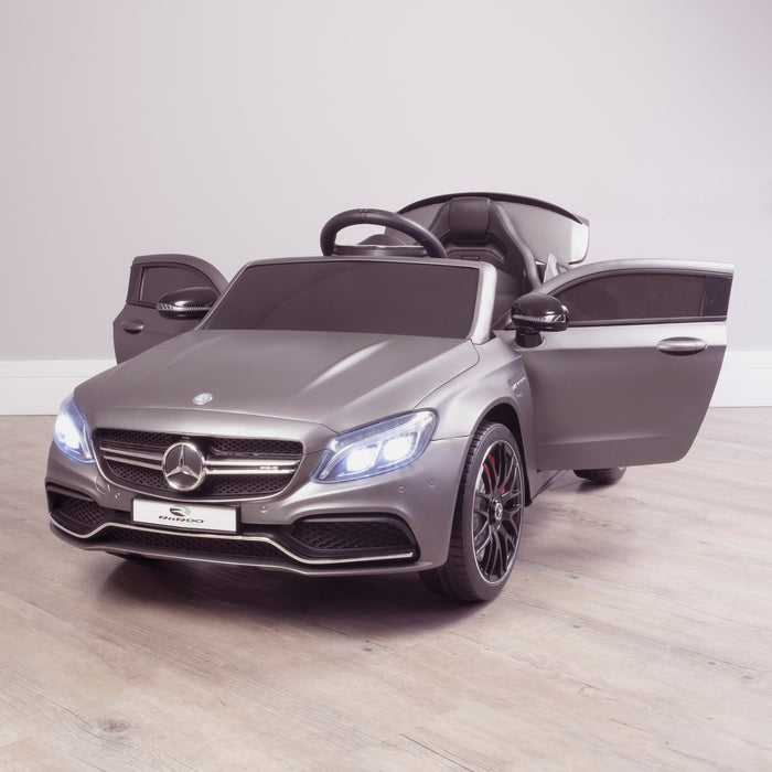 kids 12v mercedes benz c63s amg electric ride on car 2846 c63 in painted grey