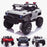 kids 24v hummer style ride on car jeep with parental remote control two seater main white panther sv 2 4wd red
