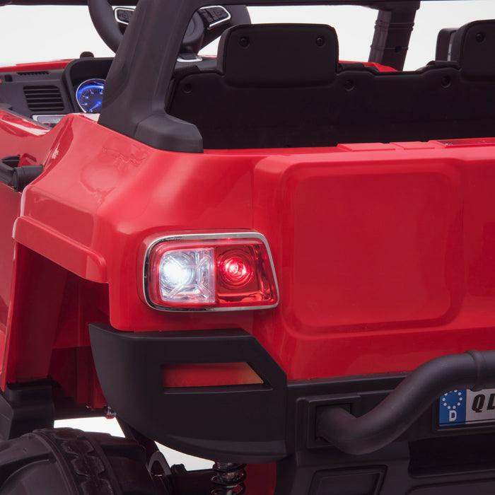 kids 24v hummer style ride on car jeep with parental remote control two seater rear lights 2 4wd