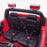 kids 24v hummer style ride on car jeep with parental remote control two seater seat belts panther sv 2 4wd red