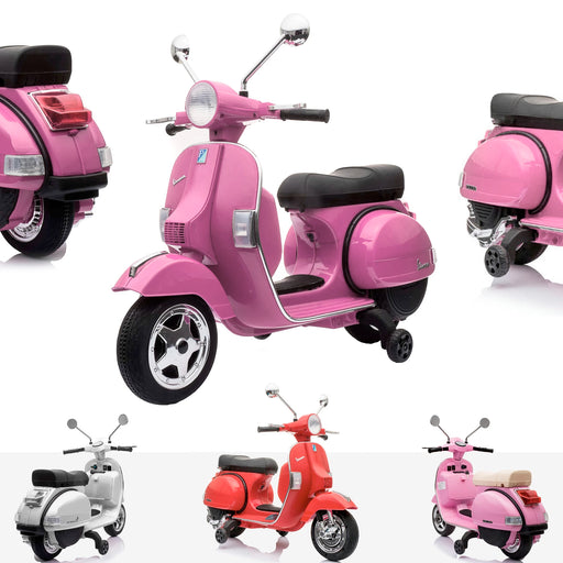 kids 6v vespa motorbike pink Pink licensed px150 electric ride on