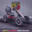 kids abarth ride on pedal go kart pedal powered ride on black 2 scorpion