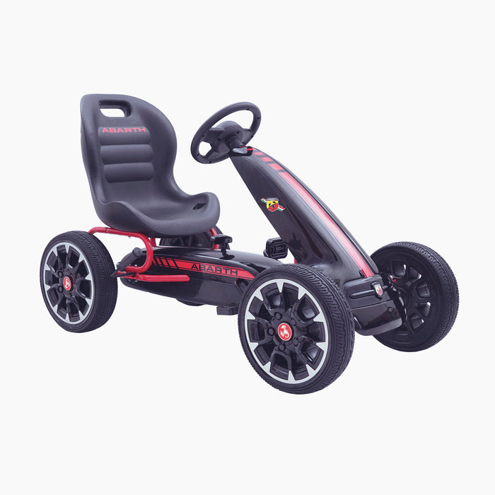 kids abarth ride on pedal go kart pedal powered ride on black 4 licensed scorpion