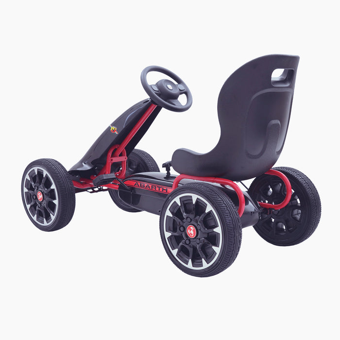 kids abarth ride on pedal go kart pedal powered ride on black 5 licensed scorpion