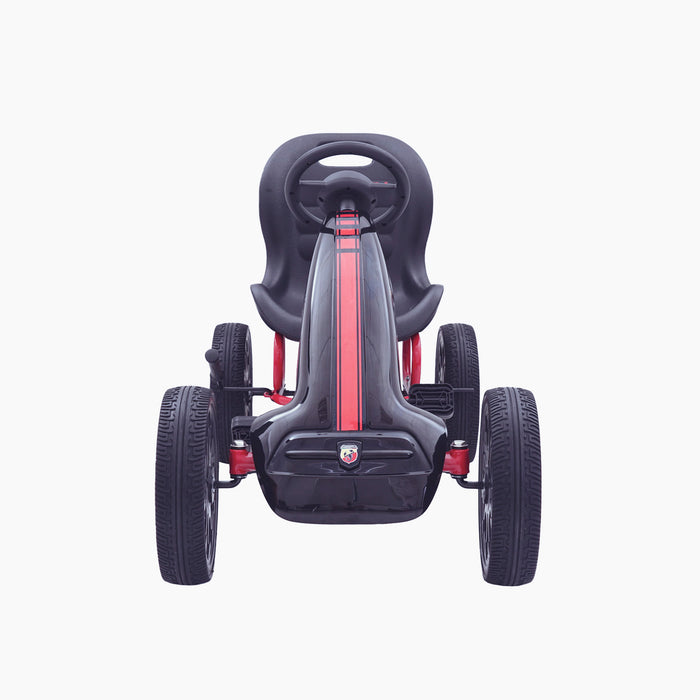 kids abarth ride on pedal go kart pedal powered ride on black 6 licensed scorpion red