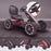 kids abarth ride on pedal go kart pedal powered ride on black licensed scorpion pink